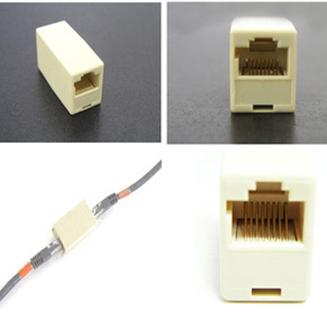 Marsnaska Extender Plug Cable Joiner RJ45 Adapter Network Ethernet Lan Coupler Connector Extender Plug