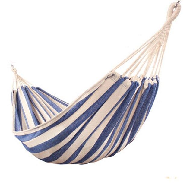 Thicken Canvas Garden Swing Hammock Outdoor Single 2 person Dormitory Camping Hammocks 200*80 200*100 200*150cm Hanging Chair