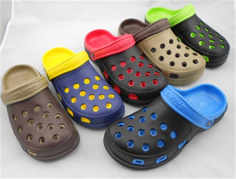 New Arrival Men Garden Shoes EVA Beach Slippers For Men Breathable Anti-slip Bottom Summer Shoes HSA20  (13)