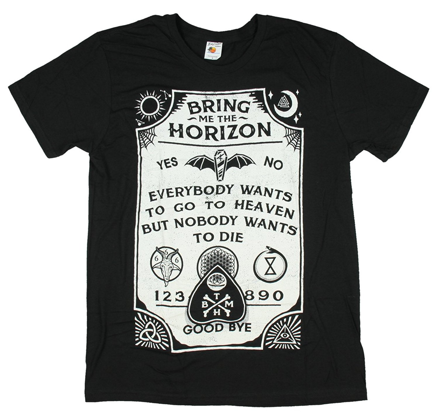 Adult Bring Me The Horizon quot Ouija Board quot Black Slim Fit T Shirt Newest Fashion Stranger Things T Shirt Men in T Shirts from Men 39 s Clothing