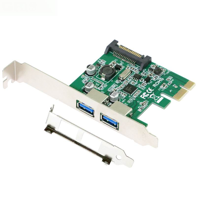 PCI Express font b Card b font x1 with USB 3 0 Type A 2 Ports