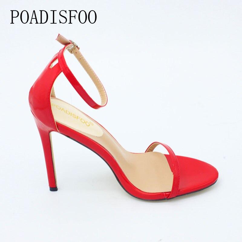 Abiertas rojo Sandalias Verano Alto caqui Gran Pez 726 Ásperas Super Tamaño 3 Zl Mujer Sexis Con Tacón blanco La h De Zapatos Cabeza Negro pPCqq