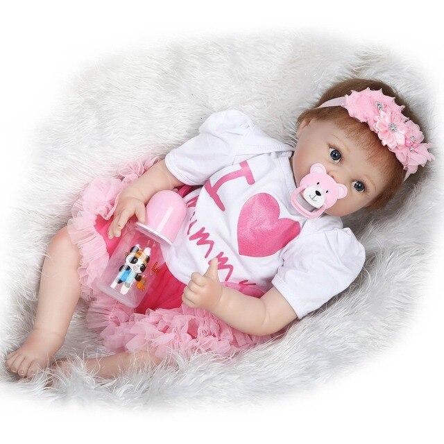 Silicone Doll Reborn Baby Toys Girls Dolls 2