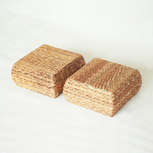Banana Bark Grass Square Meditation Cushion Floor Mat Japanese Futon Tatami Thickening Seat Stool