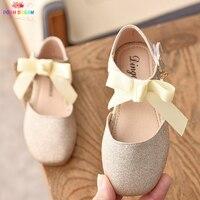 f8aaeec0d POSH DREAM New Children Butterfly Knot Princess Kids Girls Shoes Gold Pink  Sequins Flat Shoes For. Elegante sueño nuevos niños mariposa Nudo princesa  niñas ...
