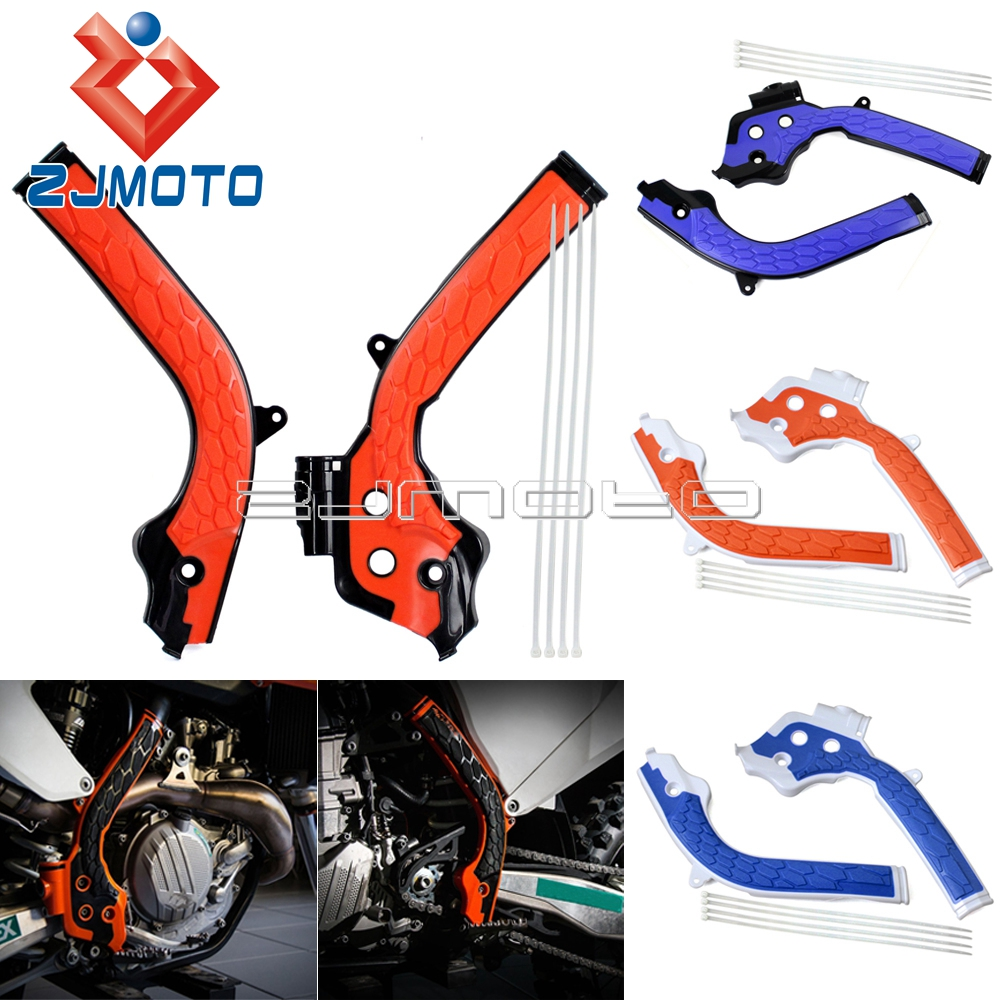 Dirt Bike Motocross X-Grips Frame Guard Frameguards For <font><b>KTM</b></font> EXC-F 250 350 <font><b>450</b></font> EXC125 17-18 EXC 250 300 TPI 2018 EXC 250 300 <font><b>2017</b></font> image