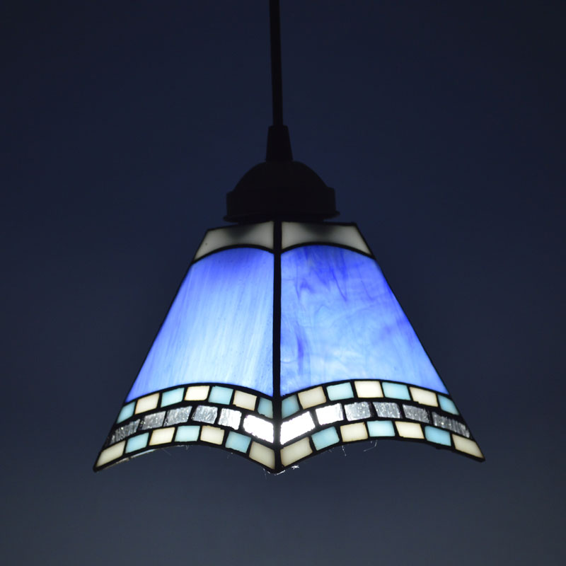 Tiffany Pendant Light Mediterranean Sea Style Classic Bar Cafe Decor Hanging Lamp Light Fixtures E27 110-240V