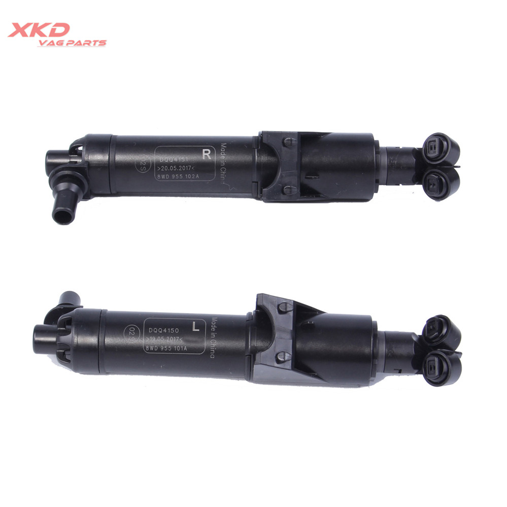 Left Right Headlight Washer Sprayer Nozzle Kit For Audi A4 S4 Avant 16 17 8W0955101A 8WD