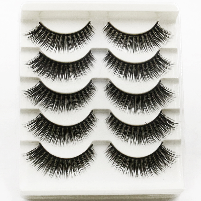 10Pair Natural Long Lashes Extension For Professional Fake Eyelashes Extension Fake Eyelashes Hand Made Make Up Winged Eyelashes