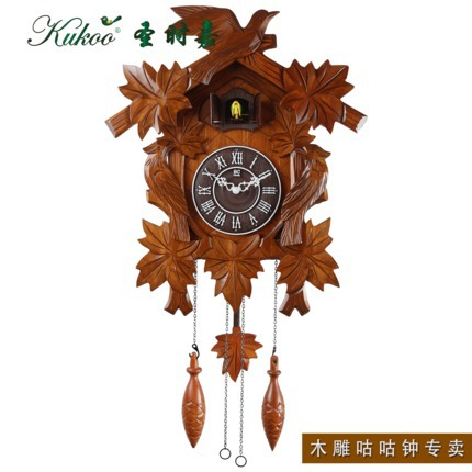 bird wooden sculpture alarm cukoo clock kids room decoration gifts presents