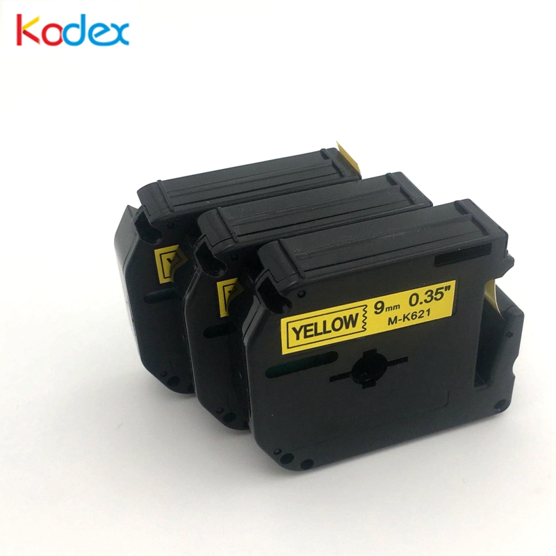Kodex 3pcs M tape 621 compatible Brother P-touch label tape 9mm M-K621 black on yellow for Brother P Touch Label Maker