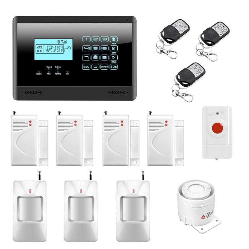 Wireless GSM SMS Home Emergency Alert Security Alarm System PIR Motion Sensor Door Gap Detector Panic Button Alarm P720