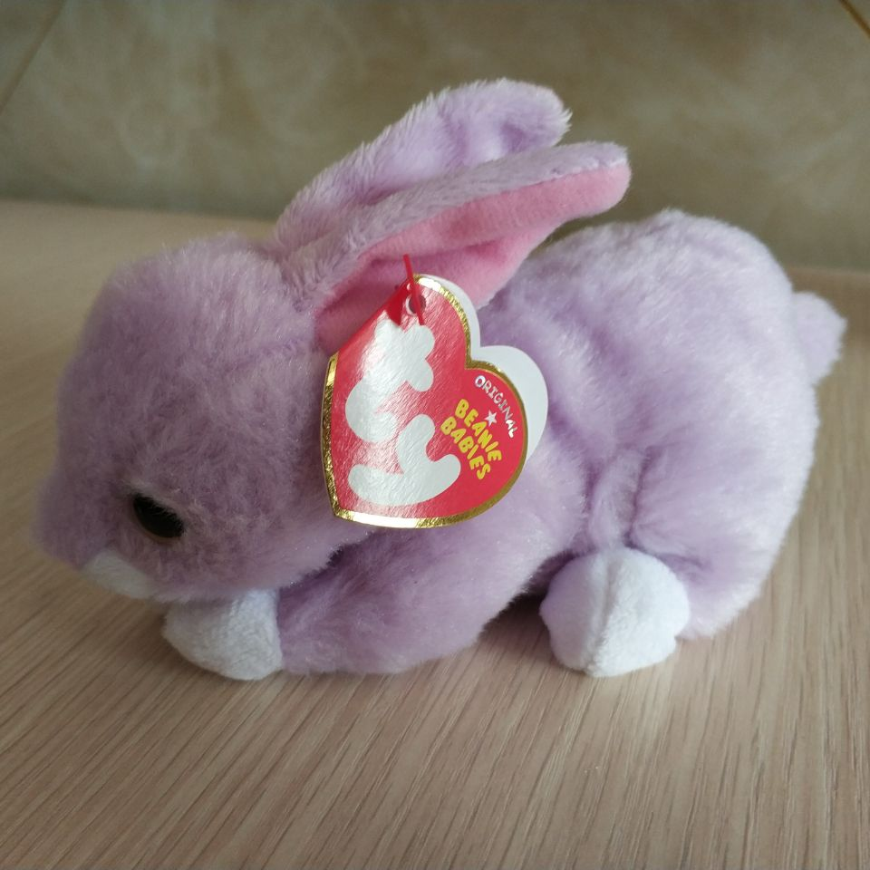 4c2da2cc675 Purple Beanie Baby With Flower