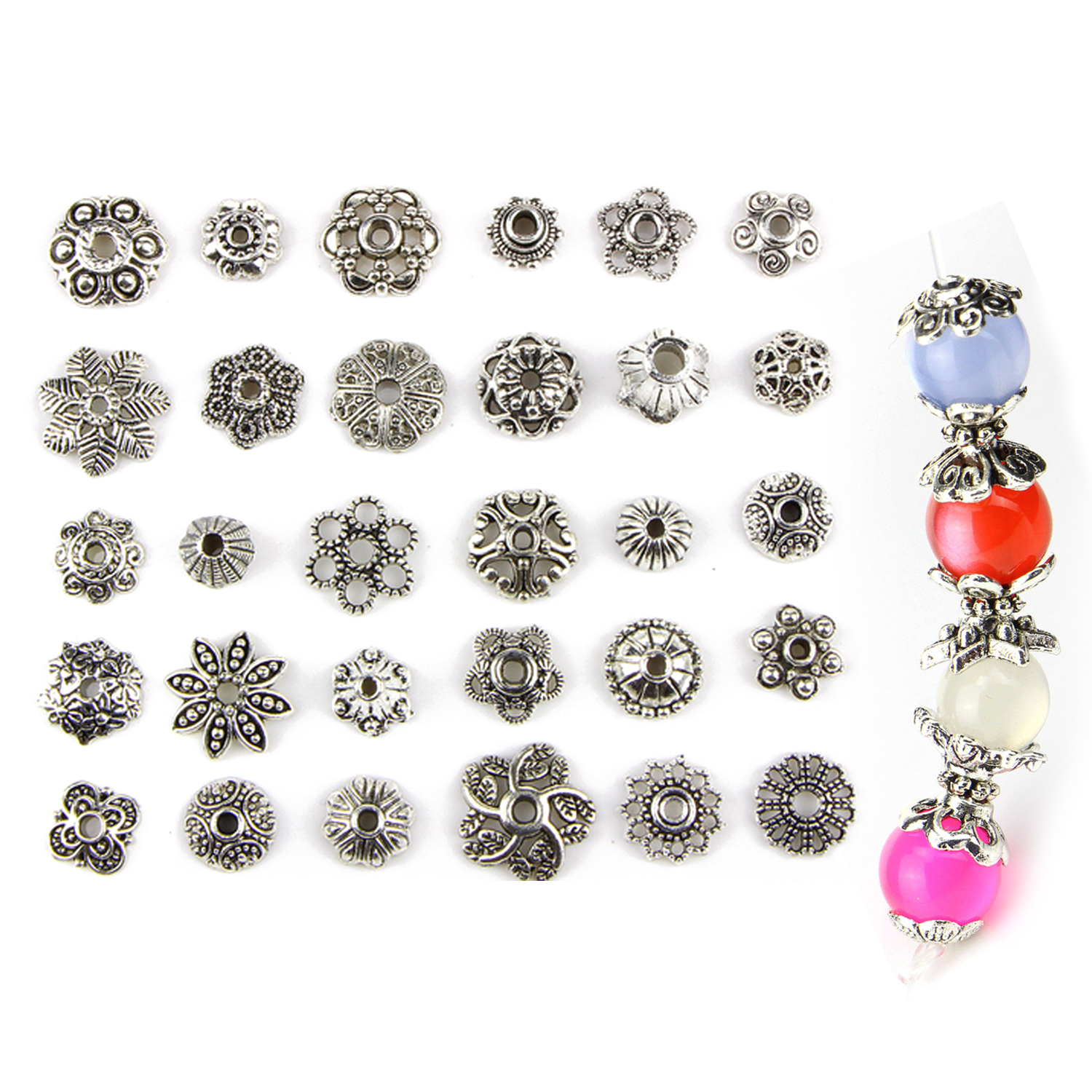150PCS Assorted Style Alloy Spacer Beads Toys Gifts For DIY Bracelet Necklace Craft Making Accessories