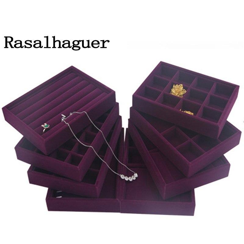 20*15*3cm DIY Storage Tray Soft Velvet Jewelry Packaging Display Jewelry Earrings Necklaces Pendants Bracelets Tray Holder Case