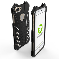 For iPhone 7 7plus phone cases metal aluminum Shockproof Cover Armor anti knock protect camera phone case with free screen film