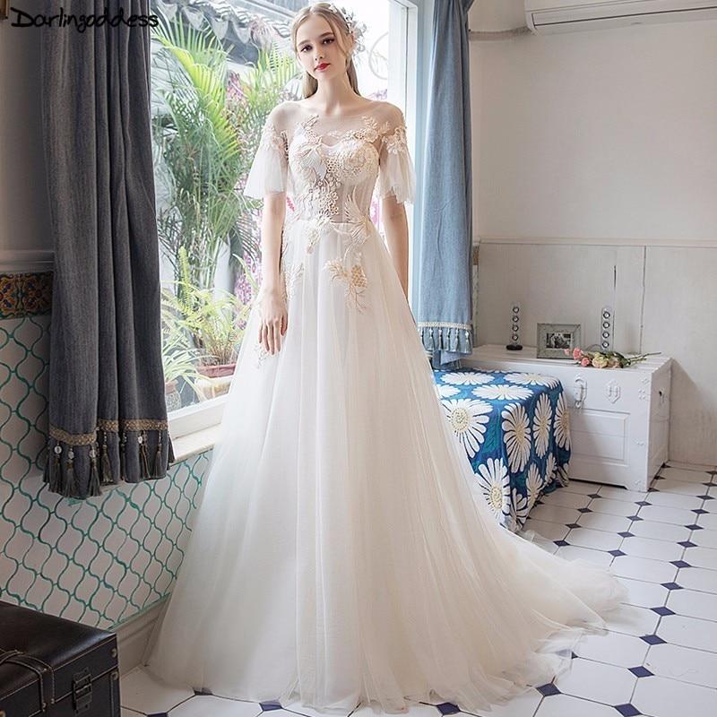 Robe De Mariage 2018 Cheap Plus Size Wedding Dress Boho