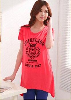 Emotion Moms модная одежда для кормящих матерей с коротким рукавом, топы для кормящих, топ для беременных женщин, летняя футболка для беременных - Цвет: Красный