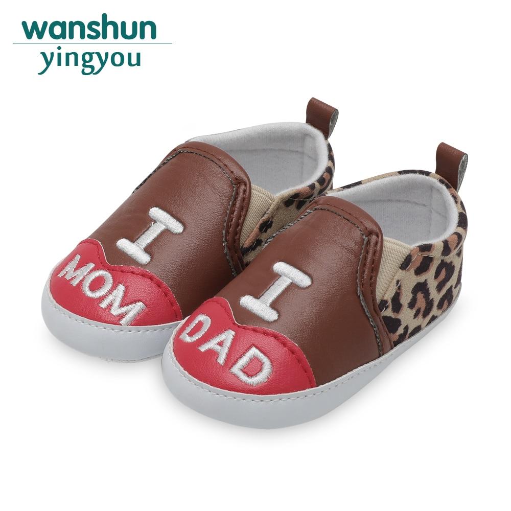 Baby boy girls first walker PU leather Adorable Anti-slip Prewalker fashion newborn baby crib shoes moccasins for babies bebes
