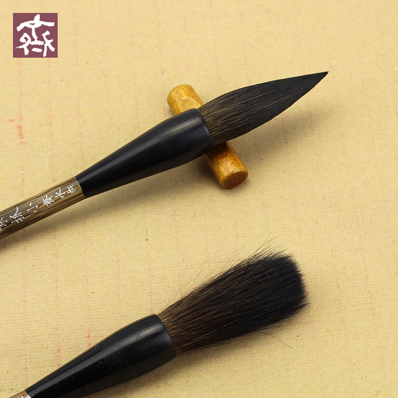 3Pcs Calligraphy Brushes Squirre Hair Chinese Calligraphy Brush Lian Brush Pen Calligraphy Set Painting Wrting Brush Stationery pure langhao calligraphy brush all wood lake pen wenfangsibao set