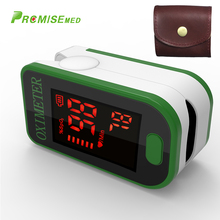 PRO-F4 with a bag Finger Pulse Oximeter,Heart Beat At 1 Min Saturation Monitor Heart Rate Blood Oxygen CE Approval-green