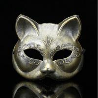 Máscara Anônima Do Animal de Partido Plástico Vilosidades Ártico Raposa Máscara Cosplay Masquerade Partido Superior Metade Do Rosto Máscaras de Halloween Catwomen Gato