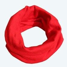 18 Цвета теплый шарф для малышей; детский хлопковый шарф для девочек, для мальчиков Чистый цвет-хомут с круглым воротником для мальчиков и девочек детский шарф-шейные платки