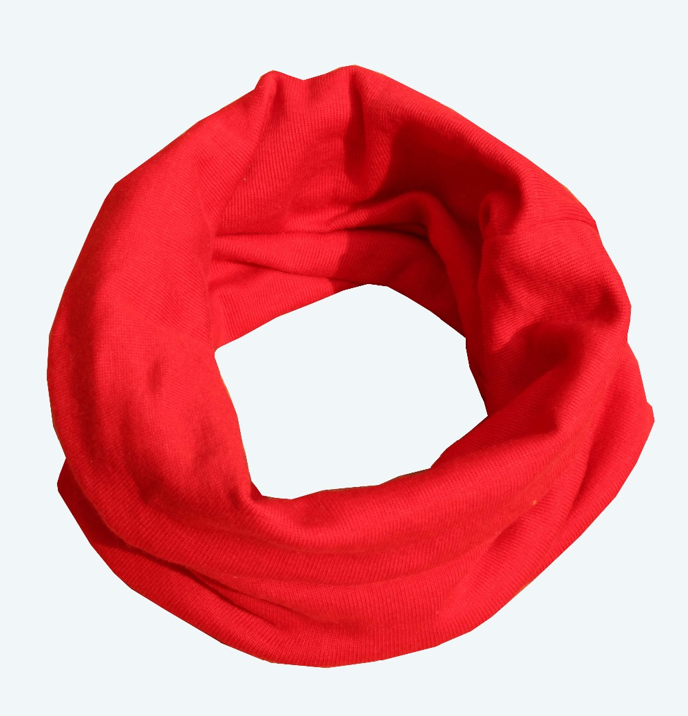 18 Colors Warm Baby Scarf Kids Child Cotton Scarf Boys Girls Pure Color O Ring Scarf Children Neck Scarves