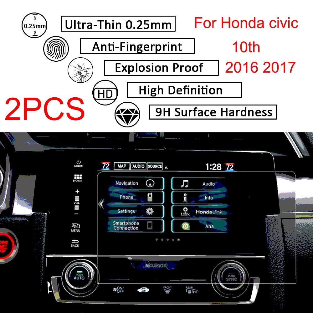 2 Pcs 7 pollici Per Honda Civic 10th 2016 2017 GPS di Navigazione Dello Schermo Sticker Vetro Temperato Pellicola Della Protezione Dello Schermo2 Pcs 7 pollici Per Honda Civic 10th 2016 2017 GPS di Navigazione Dello Schermo Sticker Vetro Temperato Pellicola Della Protezione Dello Schermo