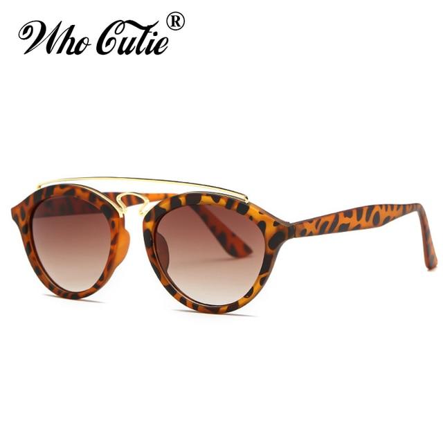 246b031a1f WHO CUTIE 2018 Tortoise Shell Gatsby Sunglasses Women Brand Designer High  Quality Retro Vintage Round 90s Sun Glasses Shades 92