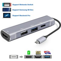Dex Station for Samsung Galaxy Note 8 S9 S8 S9+ S8+ USB Type C HUB Thunderbolt 3 Adapter With HDMI 4K USB 3.0 Port for MacBook