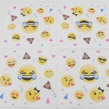20Pcs Set Smile Face Emoji Paper Napkins Party Supplies Birthday Napkin Infantiles Disposable Baby Shower