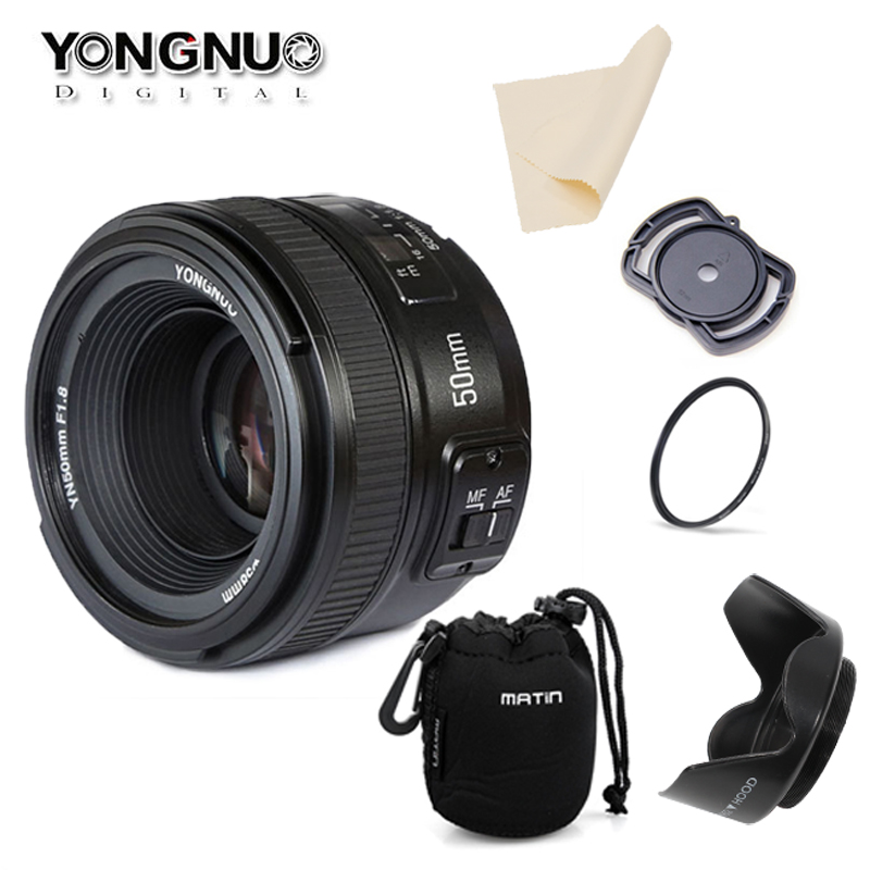 YONGNUO YN50MM F1 8 Large Aperture Auto Focus Lens for Nikon d7100 d3100 d5300 d7000 d90