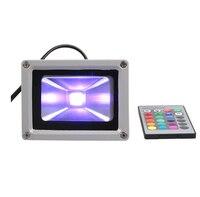 (10 шт./лот) 12 В 10 Вт RGB Светодиодный прожектор 16 Цвет Изменение светодиодный свет потока Открытый Flash Light с Дистанционное управление