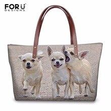 FORUDESIGNS/женские сумки через плечо с принтом щенка, собаки, кошки, известный бренд, женские сумки на плечо, большие сумки через плечо, Feminina