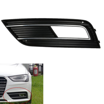 Front Facelift Bumper Grill Fog Light Grille Cover for Audi A4 B9 Left grille