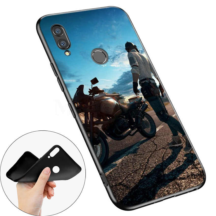 Black Silicone Case Bag Cover for Huawei Honor 10i Y7 Y6 Y5 Y9 8X 8C 8S 9 10 Lite Pro 2018 2019 Y9S Y7P Shell PUBG Game Art