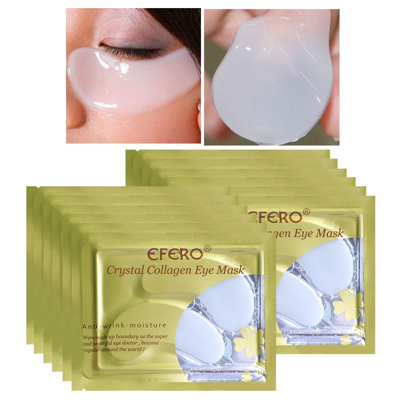EFERO Collagen Eye Mask Anti Aging Eye Patches Moisturizing Anti-puffiness Dark Circle Removal Repair Eye Cream Mask 5Pair