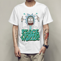 2017 New Arrival Men T Shirt Cool Rick And Morty Series Of Anime Print T Shirt