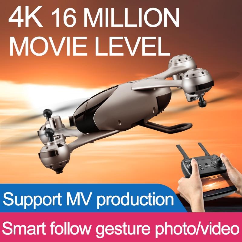 4K Zangão Com Câmera HD 1080P Dron Posicionamento De Fluxo Óptico Altitude Hold follow me Quadcopters FPV RC Quadrocopter helicóptero