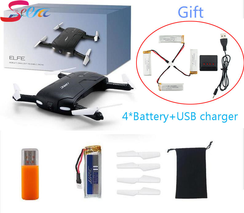 JJRC H37 with 4pcs 550mah battery and X4 charger WIFI FPV HD Camera 4CH RC Quadcopter Helicopter 3pcs battery and european regulation charger with 1 cable 3 line for mjx b3 helicopter 7 4v 1800mah 25c aircraft parts