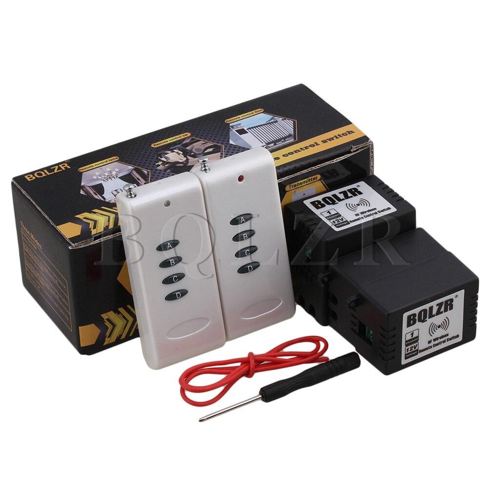 ФОТО BQLZR 12V 1CH 433MHz Inching/Self-lock ABCD-Key Remote Control 4 Receivers Switch