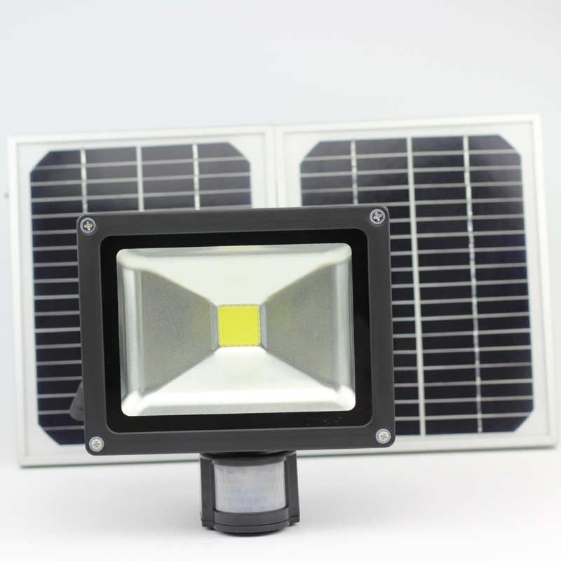 ФОТО  20W Solar Motion Sensor Light with high-Light and Low-light two mode,low-light mode 12 hours