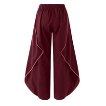 Elastic Waist Solid Women Pants Pleated Cotton Linen Trousers Women Plus Size Loose Harem Pants elastic waist harem pants plus size xxxl 5xl casual solid loose pleated pants trousers kkfy3122