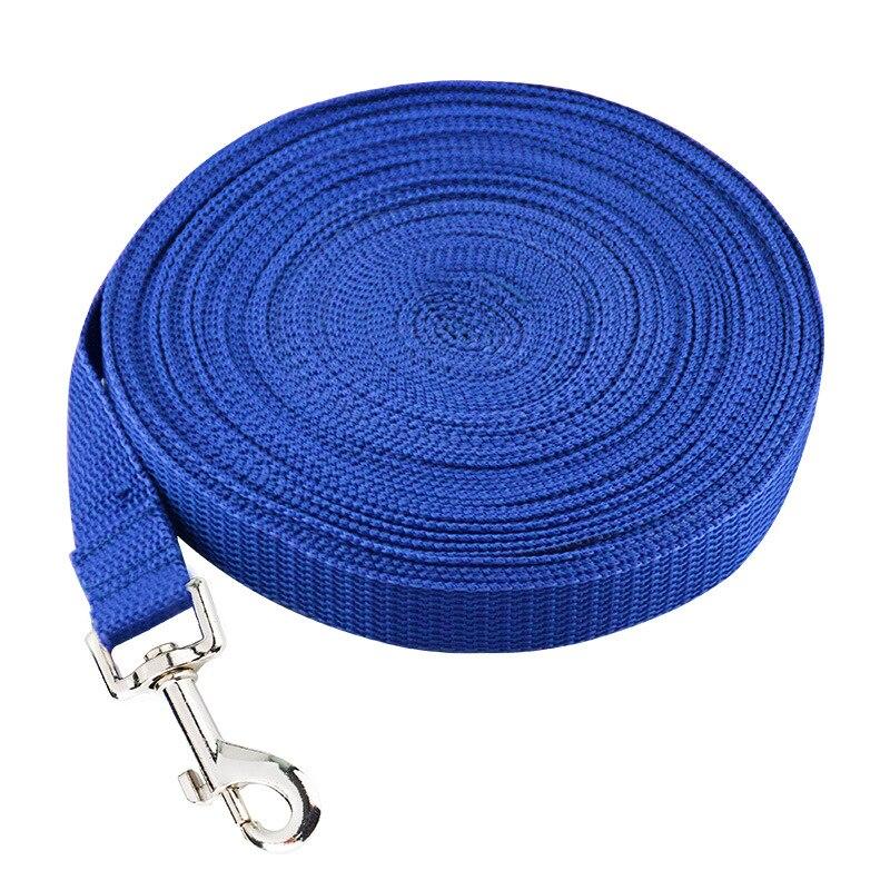 1.5//6//10//15M Pet Dog Lead Leash Long Strap Nylon Rope Obedience Training Walking