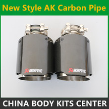 Car Styling MODIFIDE Muffler end Pipe Akrapovic Inlet 63mm Outlet 101mm Carbon Fiber Exhaust Tip Muffler