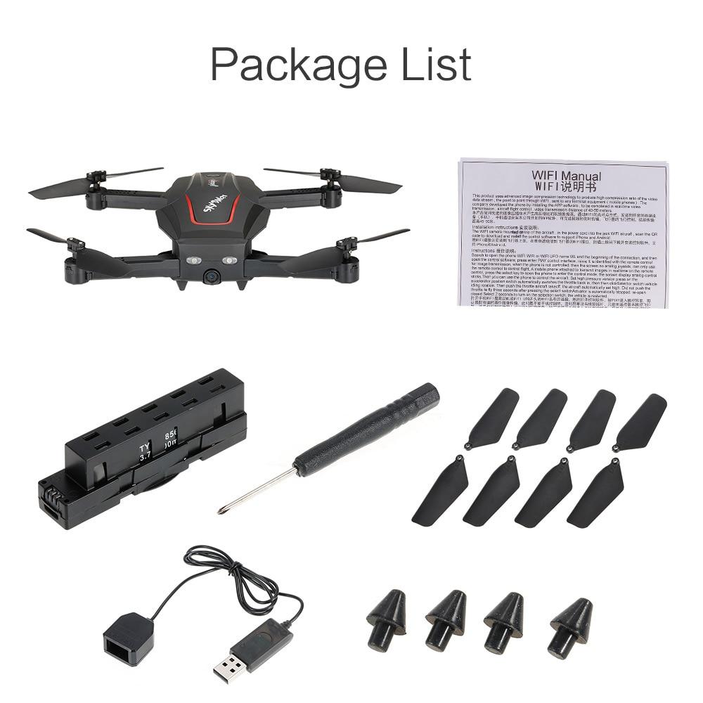 WL Tech Q626-B Wi-Fi 720P HD Camera Drone Altitude Hold RC Quadcopter Black C3C8