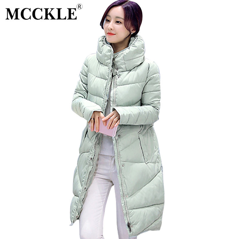 MCCKLE Winter Coat Slim Down Loose Thickening Jacket Women Outwear High Quality Female Cotton Padded Jacket Ladies Long Parka сарафан roxy windy fly away dress цвет фуксия erjx603012 mlj0 размер xs 40