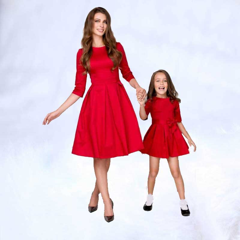 2019 New  Family Elegant Party Clothes Mother and Daughter Matching Dress Family Clothing Outfits  Mommy and Me Dresses2019 New  Family Elegant Party Clothes Mother and Daughter Matching Dress Family Clothing Outfits  Mommy and Me Dresses