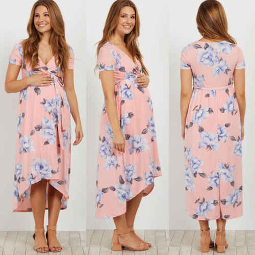 b515d6b5562 ... New Style Pregnant Women Floral Long Maxi Dresses Maternity Gown  Photography Photo Shoot Clothes Pregnancy Summer